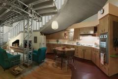 1950s Kitchen & Living Room